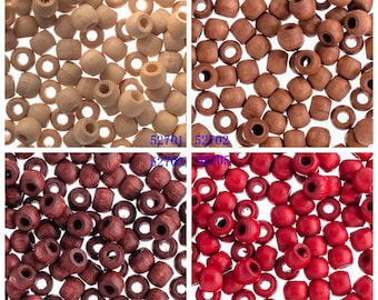 100 Pieces Non-Toxic Czech Wooden Crowbeads - 6x4.8mm (WBS286)