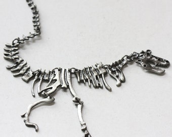 One Piece Antique Silver Plated Base Metal Pendant-Dinosaurs 195.7x72.4mm (1425C-U-161)