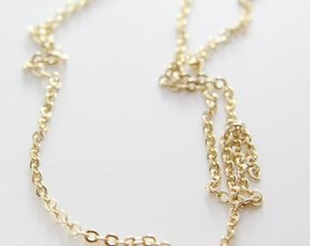 3 Feet Premium Gold Plated Brass Base Chain-Flat Oval 2.7x2.0mm (412C08)(245SFB)