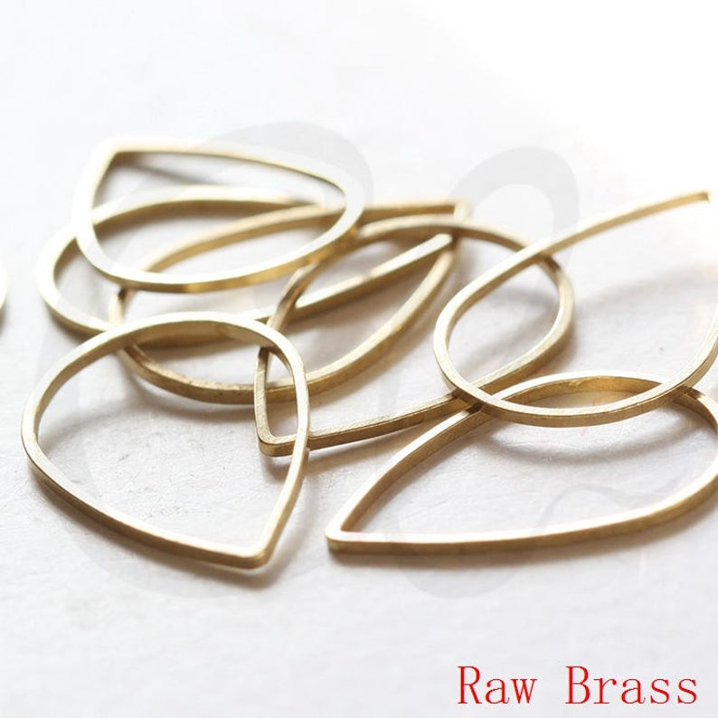 CW-3329C-E-634 20 Pieces Raw Brass Square Blank Ring Square 20mm