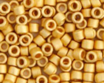 5 Grams Japanese Miyuki Delica 10/0 Beads - Matte 24kt Gold Plated - Round 2.2mm (DBM0-331)