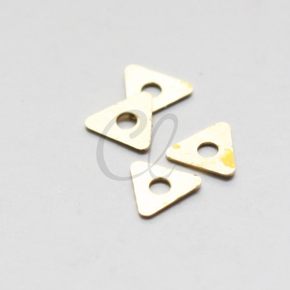 100pcs Raw Brass Triangle Spacer 7mm 1918C-T-295