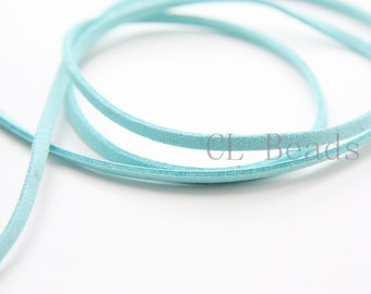 5 meters of Faux Suede - Turquoise 2.5mm