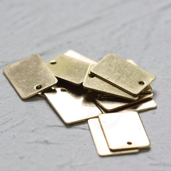 3928C-V-291 15x1mm 40 Pieces Raw Brass Round Bar Charm