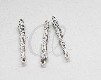 2pcs Oxidized Silver Tone Base Metal Link - Branches 45x4mm (3105C-M-230)
