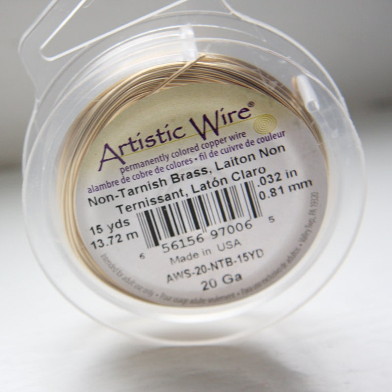 Artistic Wire 20 Gauge LeadNickel Safe-Non-Tarnish Brass 15Yard