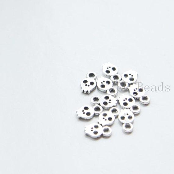 30pcs Oxidized Silver Tone Base Metal Charms-Spoon 24x6mm 974Y-H-159A W