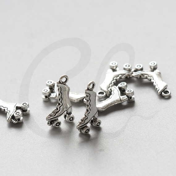 30pcs Oxidized Silver Tone Base Metal Charm Bird 7x9mm 26518Y-T-208
