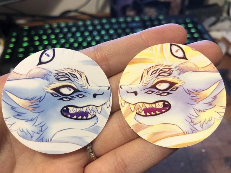 Yokai Demon Fox Vinyl Sticker