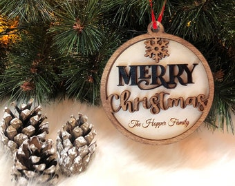 Personalized Merry Christmas Family Ornament 2021 | Tree Ornament 2021 | Happy New Year Ornament | New Ornament | Christmas Gift 2021