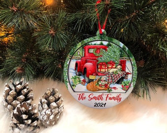 Personalized Christmas Family 2layer Ornament | Tree Wooden Ornament 2021 | Happy New Year Ornament | New Ornament | Christmas Gift 2021