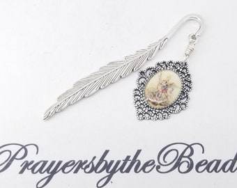 St Michael Bookmark,Angel Wing feather, Archangel protector of the World~ Guardian Angel, Catholic prayer Gift~Prayers by the bead