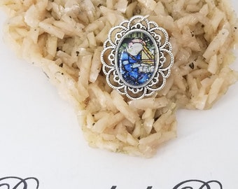Saint Celilia Color Cameo,Rosary Marker,Patron Saint of Music and musicians~ Prayers by the bead