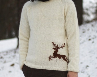 Guys Stag Sweater