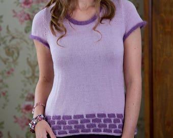 PDF Knitting Pattern for Sweet Honey Top
