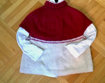 Sparkling top hand knitted in soft mohair yarn - size M