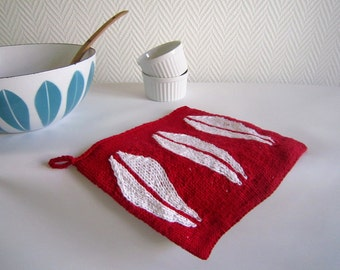 Lotus Pot Holders - pdf knitting pattern