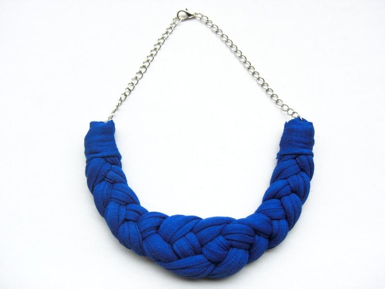 941cd9af4287 Collar trapillo collar algodón collar azul collar tela