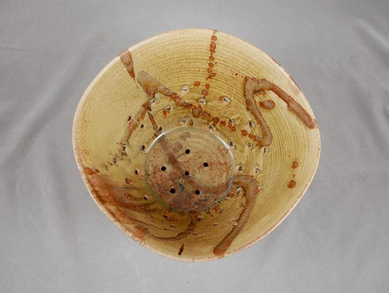 Berry Bowl XTRA Large avec saucer cuisine passoire à Sienna avec tourbillons