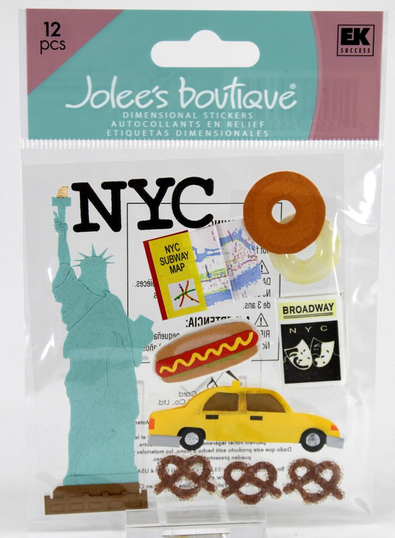 Jolee/'s STATUE OF LIBERTY 2 By You Embellishments NEW VACATION TRAVEL