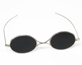 RARE Antique Sunglasses // Antique Eyeglasses // Antique Glasses // 1800s Sunglasses // Civil War Sunglasses // Round Silver Sunglasses
