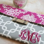 Personalized Kindle Paperwhite Case, Monogrammed Damask Kindle Oasis Sleeve, Pink Kindle Paperwhite Cover, Nook Case, Kindle Accessories