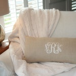 Monogram Pillow Cover, Wedding Gift, Nursery Decor, Monogram Linen Pillow Cover , Personalized Pillow Cover, Home & Living Decor by OhKoey