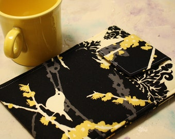 Ipad case, ipad cover , ipad sleeve, ipad 2 case, ipad 2 sleeve, Tablet Case, tablet cover, Techee Gadget Sleeve-  in Sparrows