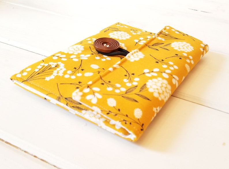 Mustard Yellow Kindle Cover Padded Kindle Paperwhite Case image 0
