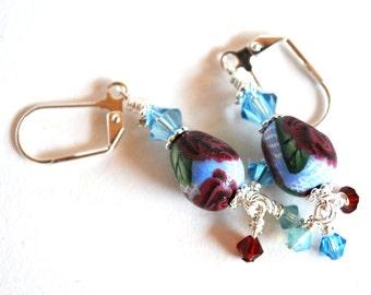 Earrings Handmade, Silver Earrings, Dangle Earrings, Polymer Earrings, Ready to Ship, Drop Earrings, Long Earrings, Statement Earrings