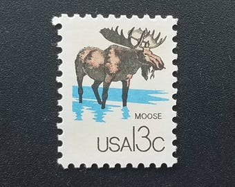 Set of 4 Misc Moose Stamps NEVER USED!