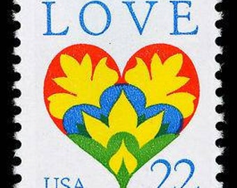 22 cent love stamps etsy