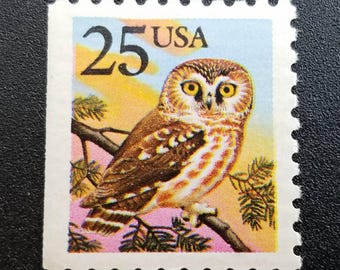 owl stamps etsy