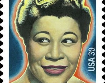 One (1) vintage unused postage stamps - Ella Fitzgerald // 39 cent stamp