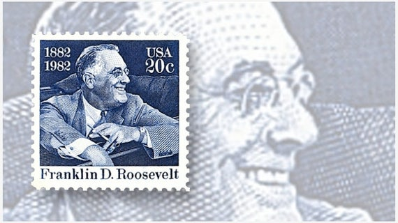 Five 5 Unused Fdr Postage Stamps Franklin D Roosevelt 20 Cent Stamp Face Value 1 00