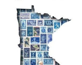 Postcards to Voters printable template: Blue Minnesota