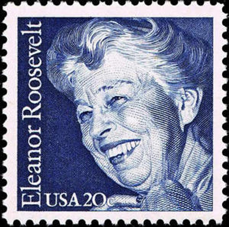 Five 5 Unused Postage Stamps Eleanor Roosevelt 20 Cent