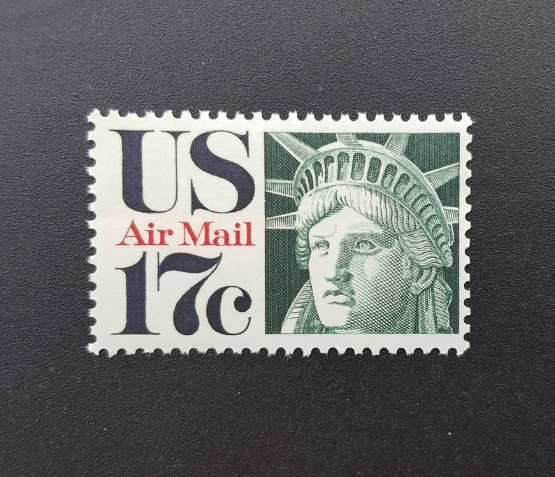Five (5) unused US postage stamps - Statue of Liberty // 17 cent stamps //  face value 0 85
