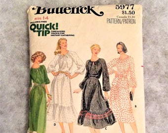 1970s Vintage Top and Skirt Pattern 36 Inch Bust Butterick 5977