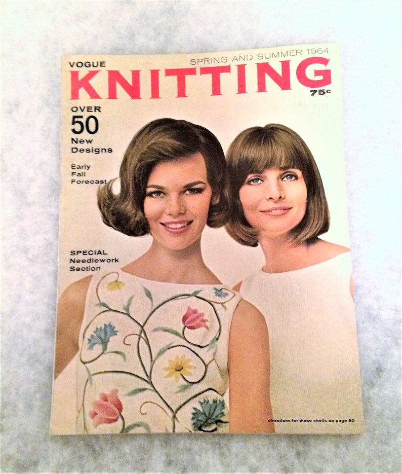 1964 Vogue Knitting Book Spring and Summer 60s Fashions 1960s Women's  Clothing and Household Knitting Magazine Patterns Crafts Mid Century
