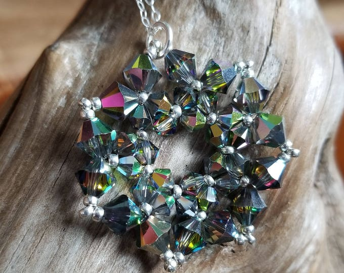 Swarovski Crystal Hand Woven Necklace Pendant