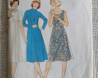 1970s Dress - Multi Size - Maudella 5895 - Vintage Sewing Pattern