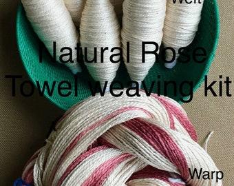Beginner Weaving Kit, Natural Rose Towels, Weaving Loom Kit, DIY Weaving Kit, How to Weave Kit, DIY Weaving Kit, Loom Weaving, Pre-wound