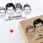 Family portrait stamp for personalized return address