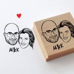 Custom portrait stamp for personalized save the date