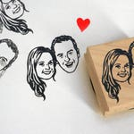 Custom portrait Personalized gift Save the date valentine's gift / illustrated portraits stamp / Custom Gifts for couple mr mrs / wedding