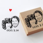 Personalized save the date stamp
