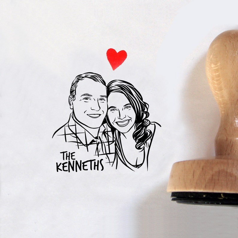 Custom Portrait stamp for Return address image 0