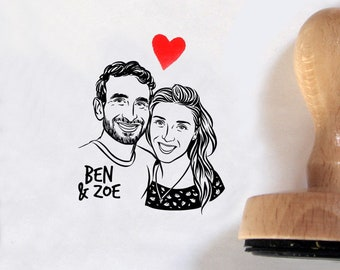 Valentine's Day gift Face stamp for Personalize wedding gift