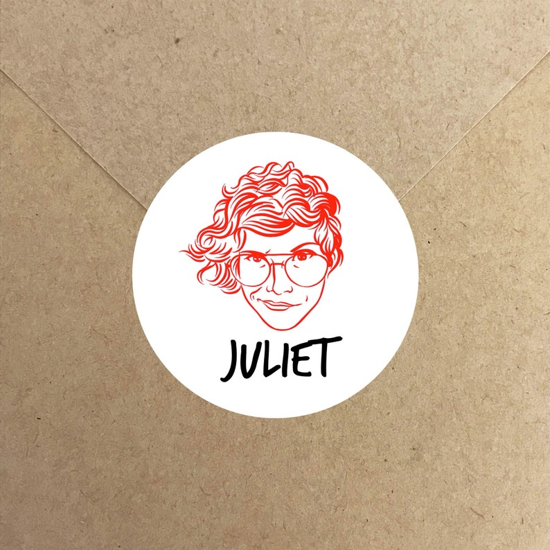 Personalized Face Stickers for letters and enveloppes image 0